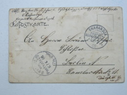 DSW , Feldpost - Ansichtskarte Aus OKAHANDJA  , 1905 - Colony: German South West Africa