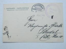 DSW , Feldpost - Ansichtskarte Aus OKAHANDJA  , 1905/6  , Mit Truppensiegel - Colony: German South West Africa