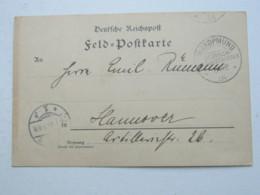 DSW , Feldpostkarte Aus   Swakopmund  1904 - Colony: German South West Africa