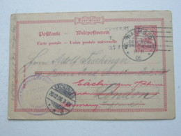 DSW , 10 Pfg. Ganzsache Aus Warmbad  Nach London , Nachgeschickt - Kolonie: Deutsch-Südwestafrika