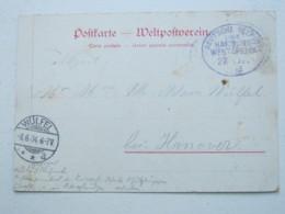 DSW , Feldpostkarte  Mit Seepoststempel  1904 , Absender Aus Okahandja - Colony: German South West Africa