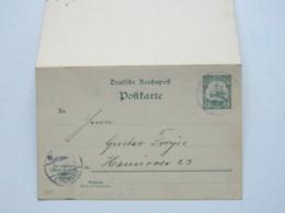 DNG , 1906 , Simpsonshafen  , Klarer Stempel Auf Doppel - Ganzsache , Rs. Viel Text - Kolonie: Deutsch-Neuguinea