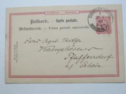 TÜRKEI , 1889 , Constantinopel , Klarer Stempel Auf Ganzsache - Deutsche Post In Der Türkei