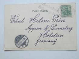 KAMERUN  ? , Deutsches Schutzgebiet , Klarer Stempel Auf Ansichtskarte Mit Seepoststempel 1904 - Kolonie: Kamerun
