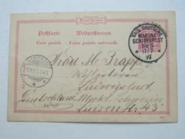1897 , Marineschiffpost  No.  5 , Klarer Stempel Auf Marineganzsache , Absender Aus Chemulpo (Korea) - Deutschland
