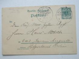 1899 , Marineschiffpost  No.  16 , Klarer Stempel Auf Ganzsache , Absender Aus Tarafal (Kapverden) - Deutschland