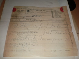 Telegram Tavirat  Versecz 1898 - Télégraphes
