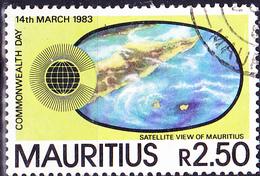 Mauritius - Satellitenbild Von Mauritius (Mi.Nr.: 555) 1983 - Gest. Used Obl. - Maurice (1968-...)