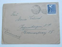 1948 ,  5 Mark Taube Auf Auslandsbrief Von Hitdorf Nach Kopenhagen - Gemeinschaftsausgaben