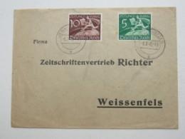 1940 , 2 Zeitungsmarken Auf Brief Aus  Jena - Deutschland