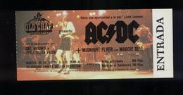 AC DC San Sebastián 1981 TICKET DE CONCERT NEUF - Tickets De Concerts