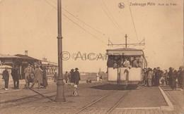 Postkaart/Carte Postale ZEEBRUGGE MOLE - Lissewege Arrêt Du Tram (Toelen-Mortsel) (A26) - Zeebrugge