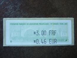 2001 LISA1 Congrès FFAP De Tours 0,46€  ** MNH - 1999-2009 Vignettes Illustrées