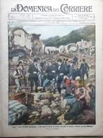 La Domenica Del Corriere 6 Novembre 1910 Nubifragio Cetara Casamicciola Bassano - Libri, Riviste, Fumetti