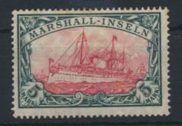 Kolonien Marshall Inseln 27 A I 5 Mark Schiffszeichnung Kaiseryacht Ungebraucht  - Kolonie: Marshall-Inseln