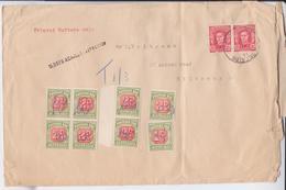 Australia 1942 KG VI Definitives Regular Stamps Classics Mi.166 Due Mi.32 Ax IX Mi.33 Ax II Adelaide Mail Cover EUR 19 - 1937-52 George VI