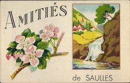 Artiste Cp Saulles Haute Marne, Amitiés - France