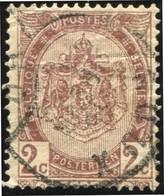 """COB   55 (o) Oblitération """"Roux"""" T1L - 1893-1907 Armoiries"""