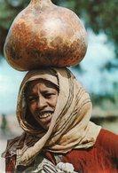 ETHIOPIA VILLAGE WOMAN HARAR  CARTE PHOTO - Ethiopie