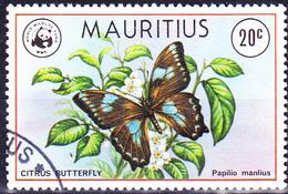 Mauritius - Blauer Schwalbenschwanz (Papilio Manlius) (Mi.Nr.: 463) 1978 - Gest. Used Obl. - Maurice (1968-...)