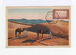 Sur Carte Postale Timbre 70 C Rouge Cachet Ambulant Hexagonal Tamanrasset Contantine 1951. (1047x) - Covers & Documents