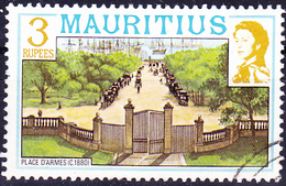 Mauritius - Place D'Armes (Mi.Nr.: 451 I X A) 1978 - Gest. Used Obl. - Maurice (1968-...)