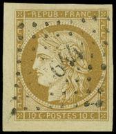 EMISSION DE 1849 - 1    10c. Bistre-jaune, Petit Cdf, Obl. PC 644, TTB. C - 1849-1850 Cérès