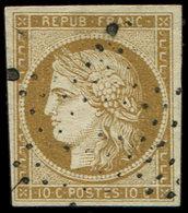 EMISSION DE 1849 - 1    10c. Bistre-jaune, Obl. ETOILE Légère, TTB. Br - 1849-1850 Cérès