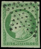EMISSION DE 1849 - 2    15c. Vert, Obl. ETOILE, TTB - 1849-1850 Cérès