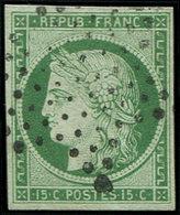 EMISSION DE 1849 - 2b   15c. Vert FONCE, Obl. ETOILE, TTB - 1849-1850 Cérès