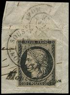 EMISSION DE 1849 - 3    20c. Noir Sur Jaune, Obl. Cursive 38/MONTBARREY Et Càd MONT-SOUS-VAUDREY 14 JANV 49 S. Fragt, TB - 1849-1850 Cérès