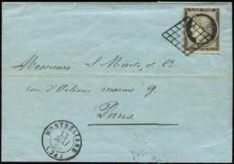 Let EMISSION DE 1849 - 3a   20c. Noir Sur Blanc, Obl. GRILLE S. LSC, Càd T15 MONTBELIARD 13/5/50, TTB - 1849-1850 Cérès