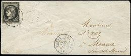 Let EMISSION DE 1849 - 3a   20c. Noir Sur Blanc, Obl. Càd T1502 (A) PARIS (A) 11 JANV 49 S. Env., TB - 1849-1850 Cérès