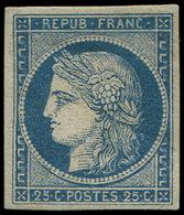 * EMISSION DE 1849 - 4    25c. Bleu, Restauré, Aspect TB - 1849-1850 Cérès