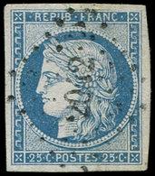 EMISSION DE 1849 - 4    25c. Bleu, Obl. PC 2042, TTB - 1849-1850 Cérès