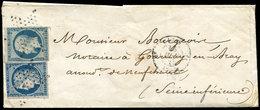 Let EMISSION DE 1849 - 4 + 10, 25c. Cérès Et 25c. Présidence, Les 2 Touchés, Obl. ETOILE S. LAC, Càd PARIS 16/6/53, Très - 1849-1850 Cérès