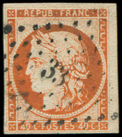 EMISSION DE 1849 - 5    40c. Orange, Voisin à Dr., Oblitéré PC 33, Frais Et TB - 1849-1850 Cérès