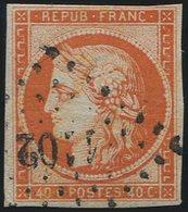 EMISSION DE 1849 - 5a   40c. Orange Vif, Oblitéré PC 1102, TB. C - 1849-1850 Cérès