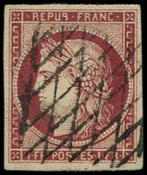 EMISSION DE 1849 - 6     1f. Carmin, Obl. GRILLE SANS FIN, TTB. C - 1849-1850 Cérès