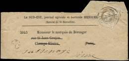 Let EMPIRE LAURE - 27B   4c. Gris, T II Obl. Càd T17 GRENOBLE 9/12/- Seul S. Bande Le Sud Est, TB - 1863-1870 Napoléon III Lauré
