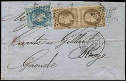 Let EMPIRE LAURE - 29B Et 30, 20c. T II Et 30c. PAIRE Obl. Etoile S. LAC, Càd Paris 3/3/68, TB - 1863-1870 Napoléon III Lauré