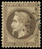 EMPIRE LAURE - 30   30c. Brun, Nuance Foncée, Obl. GC, Effigie Dégagée, Bon Centrage, Superbe - 1863-1870 Napoléon III Lauré