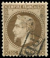 EMPIRE LAURE - 30   30c. Brun, Obl. GC Léger Et Cachet PD, TB - 1863-1870 Napoléon III Lauré