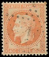 EMPIRE LAURE - 31   40c. Orange, Obl. Etoile 1, Frappe Légère, Centrage Parfait, Superbe - 1863-1870 Napoléon III Lauré