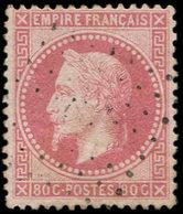 EMPIRE LAURE - 32a  80c. Rose Clair, Obl. Los., Frappe Très Légère, TTB, N° Maury - 1863-1870 Napoléon III Lauré