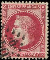 EMPIRE LAURE - 32a  80c. Rose Carminé, Obl. GC 2045D, Nuance Soutenue, TTB - 1863-1870 Napoléon III Lauré