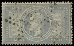 EMPIRE LAURE - 33    5f. Violet-gris, Obl. Etoile 22, TB. C - 1863-1870 Napoléon III Lauré