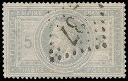 EMPIRE LAURE - 33    5f. Violet-gris, Obl. GC 237, Clairs, Aspect TB. C - 1863-1870 Napoléon III Lauré