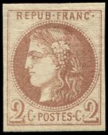 * EMISSION DE BORDEAUX - 40Aa  2c. Chocolat, R I, Inf. Ch., TTB - 1870 Emission De Bordeaux