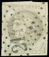 EMISSION DE BORDEAUX - 41B   4c. Gris, R II, Oblitéré GC 2145, Belles Marges, TTB - 1870 Emission De Bordeaux